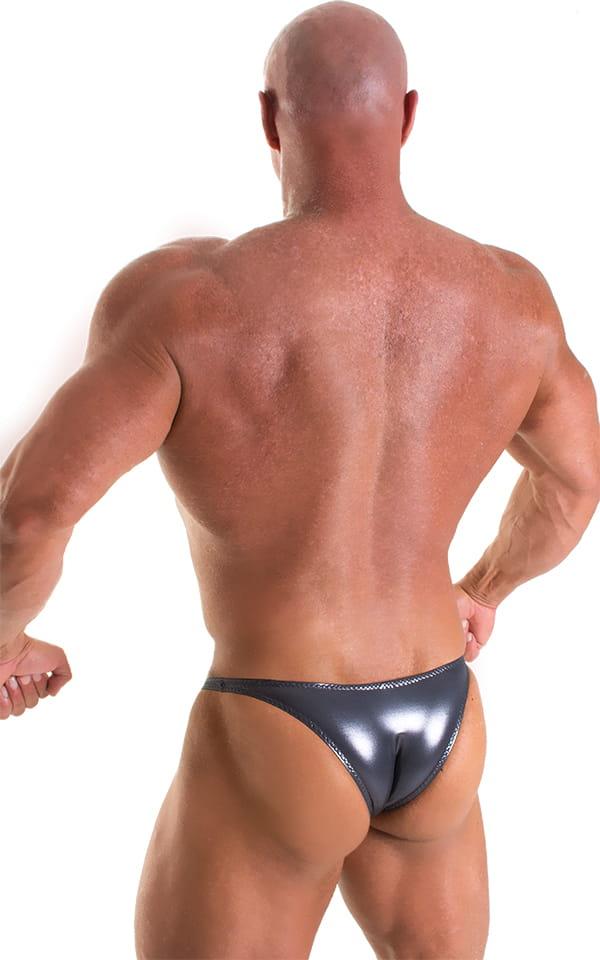 Bodybuilder Posing Suit - Narrow Back in Nero Ice Karma 3
