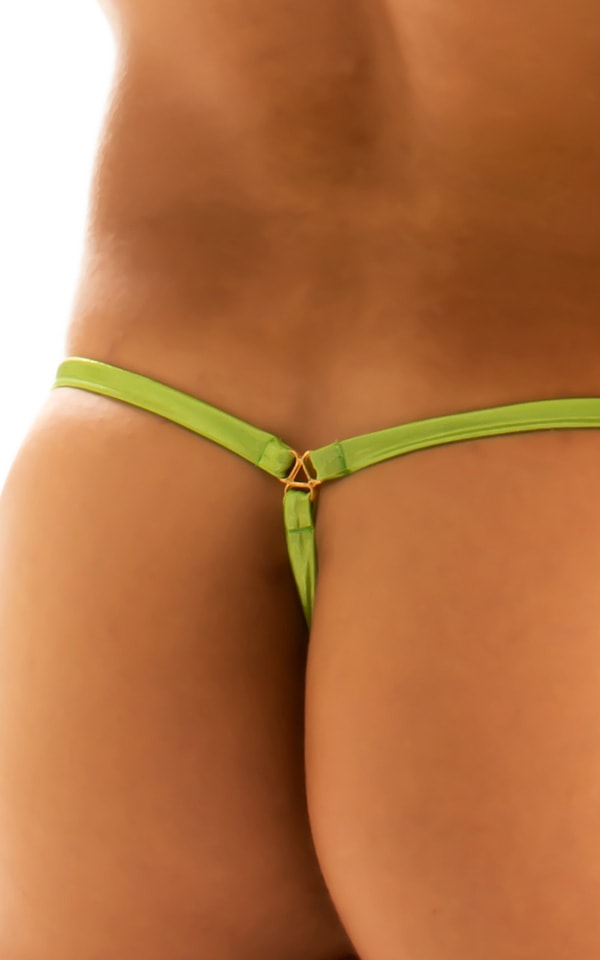 G String Swimsuit - Adjustable Pouch in Ice Karma Lemon-Lime  6