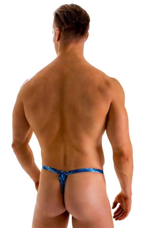 4-Way Adjustable Bikini-Tanga-Micro in Super ThinSKINZ Denim Patches 2