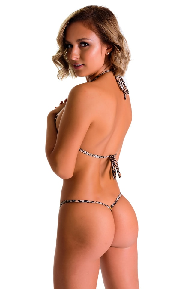 Mini Micro G String Bikini in Super ThinSkinz Cheeta 2