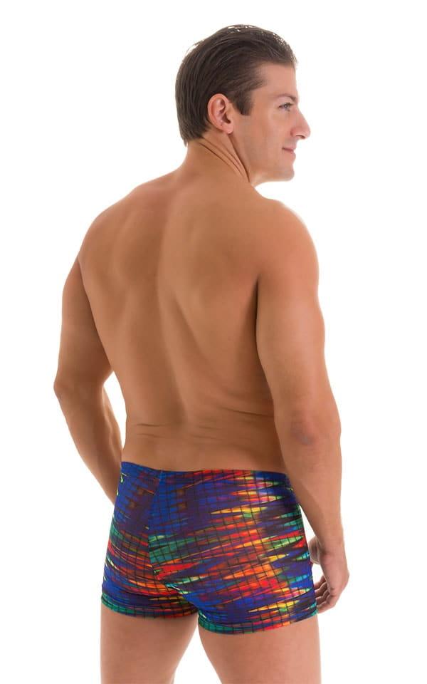 Square Cut Seamless Swim Trunks in Tan Through Wavelength 3