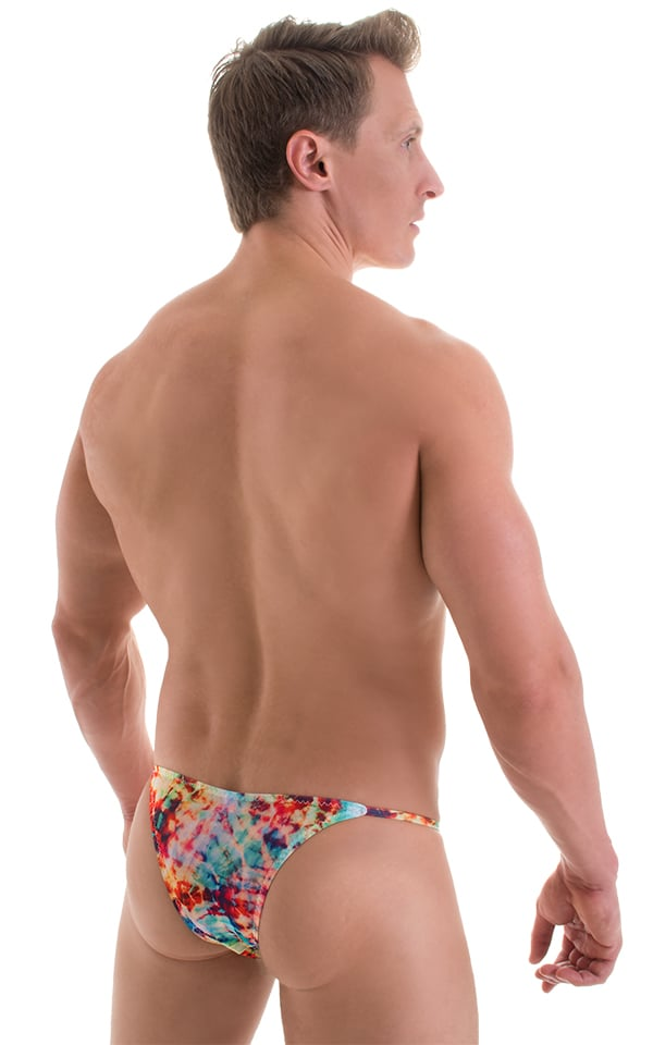 Super Low Brazilian Bikini in Tan Through Retro Tie Dye 3