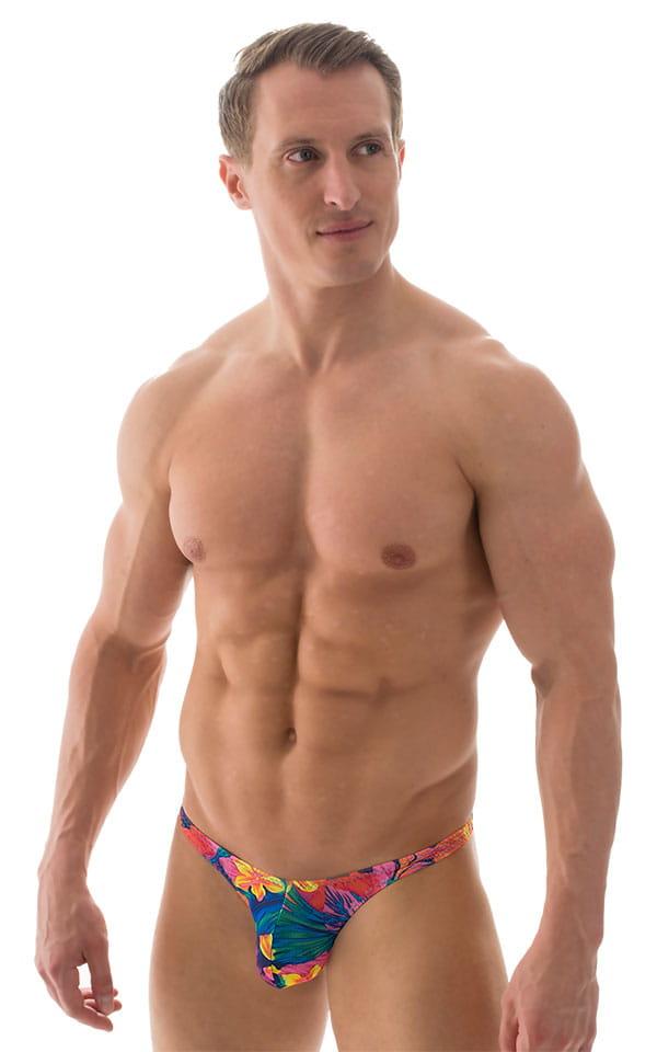 Fitted Pouch Puckered Back Bikini in Tan Through Tahitian 1