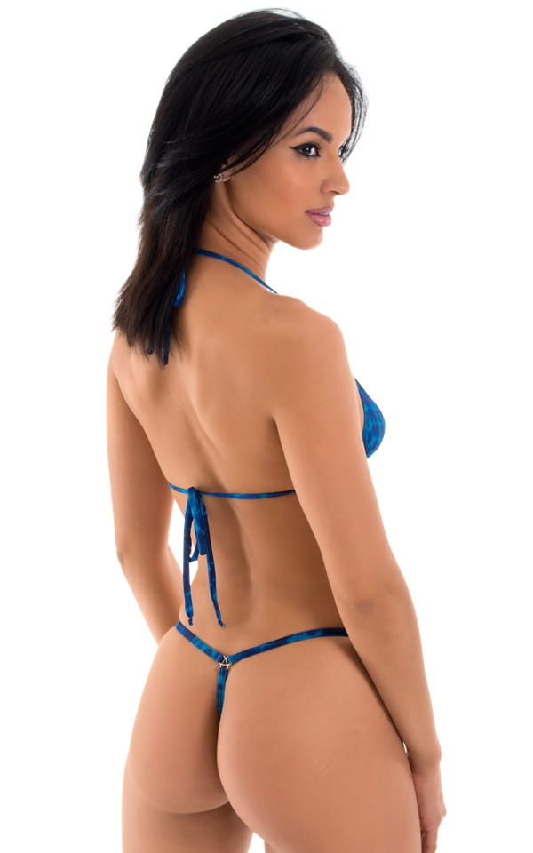 teardrop skimpy micro g string blue back