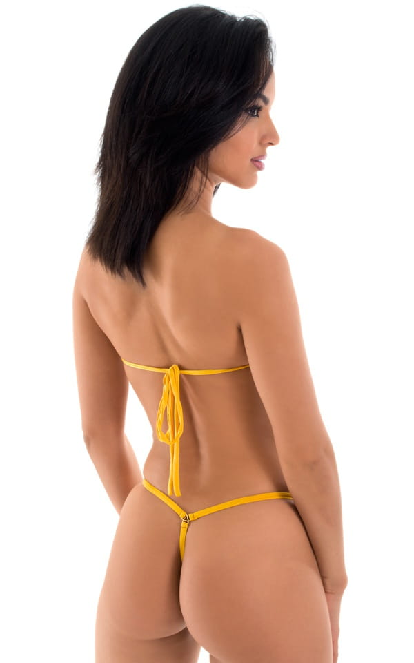 yellow micro bandeau top back