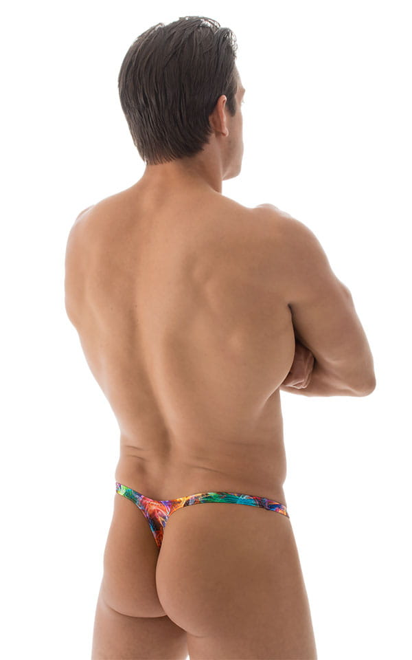 Stuffit Pouch Thong Back Swimsuit in Vapors 3