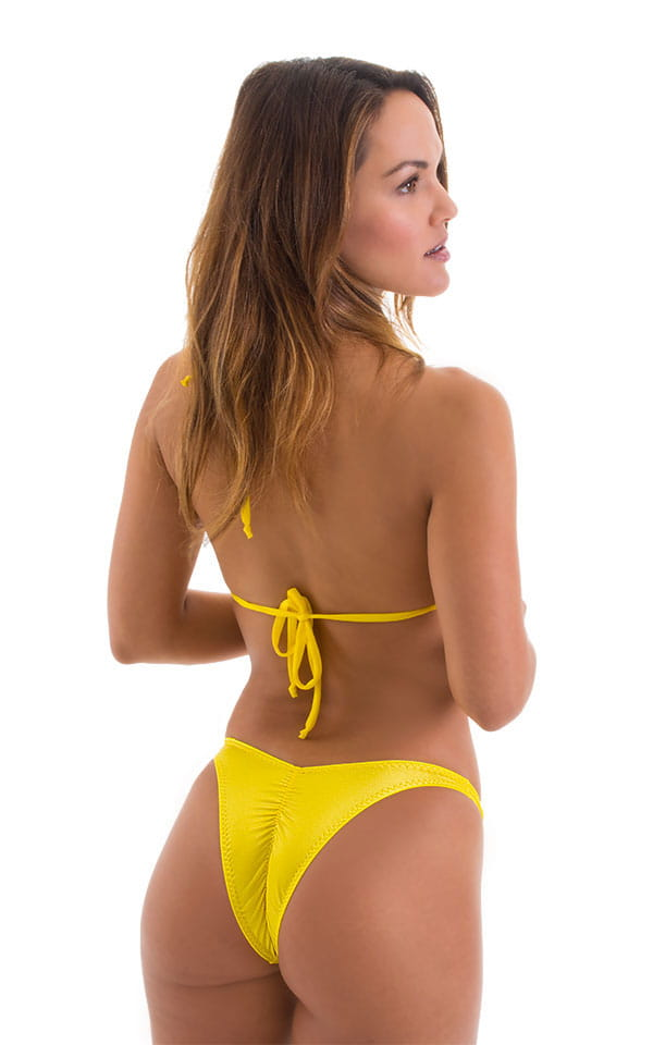 c76a42a1a28d5 High Cut - Half Back - Scrunchie Swimsuit Bottom in Wet Look Yellow ...
