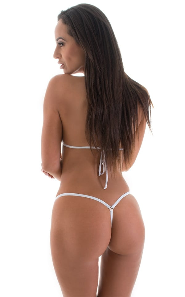 Mini Micro G String Bikini in ThinSKINZ White 3