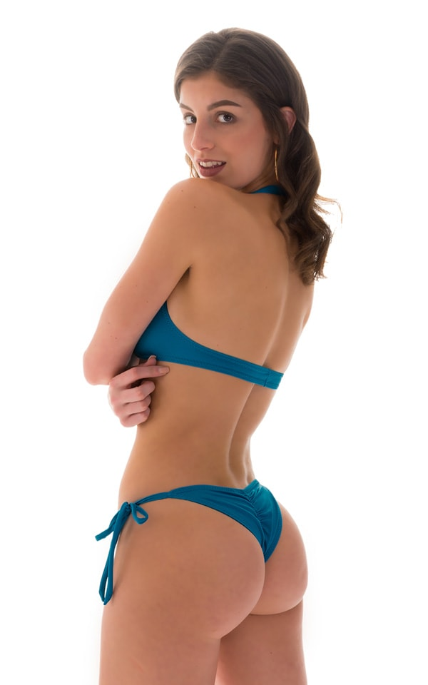 Palm Beach Halter Swim Top in Mallard 2