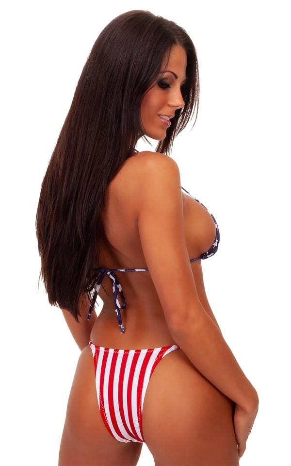 Skinny Side Rio Bikini Bottom in American Stripes 2