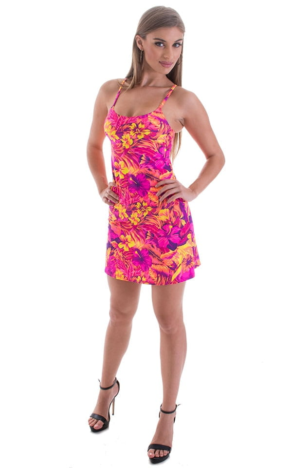Cover Up Mini Dress in Tahitian Sunset 4