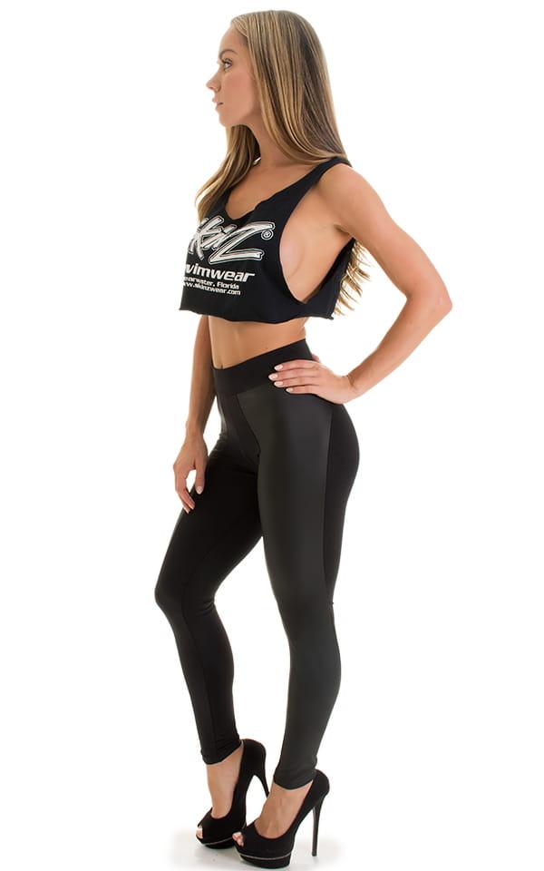 Paneled leggings in Neoprene & Black 4