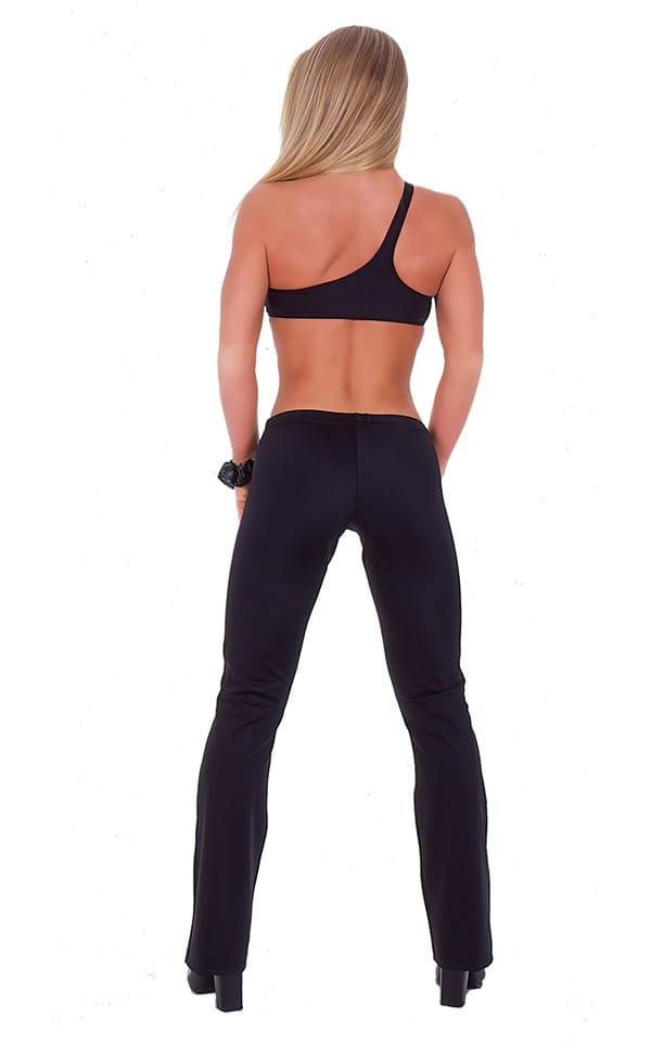 Hiphugger Boot Cut Pants in Black nylon/lycra 3