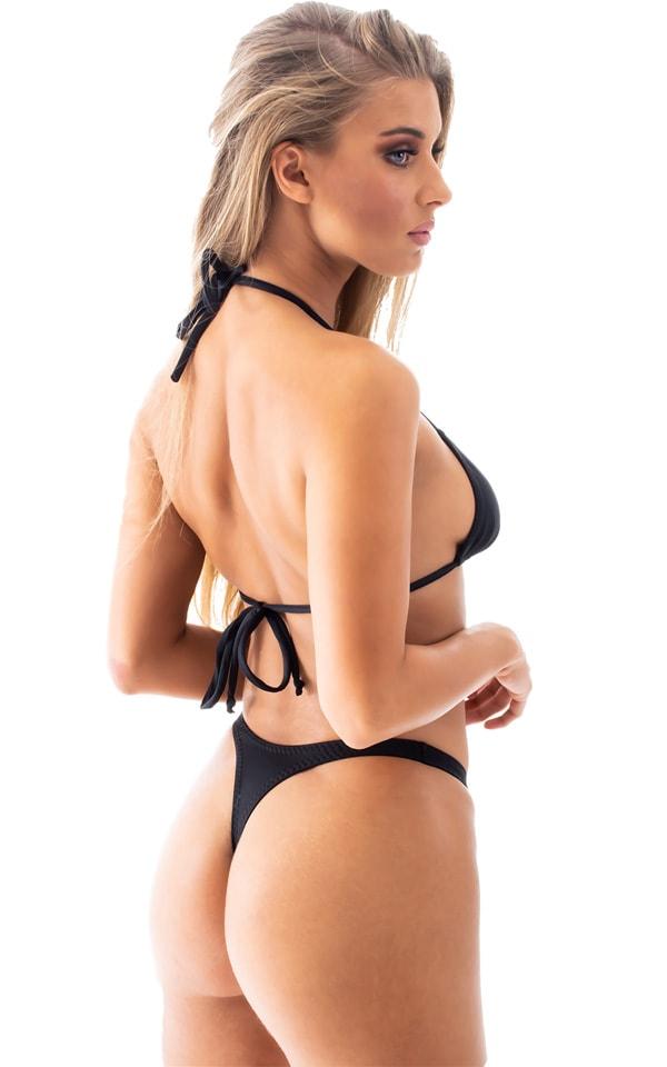 High Cut Thong Bottom in Black 3