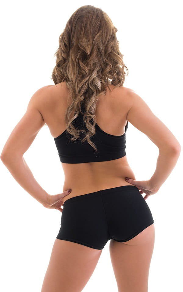 Workout Booty Shorts in Black 3