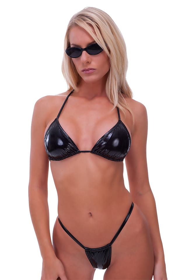 Adjustable G String Swimsuit Bottom with Rhinestone Y 7