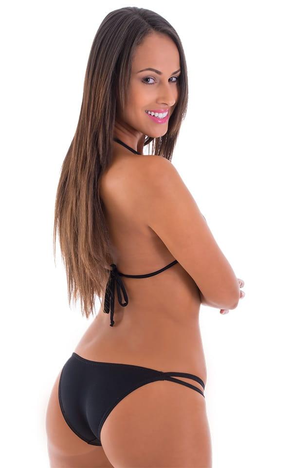 Womens Low French Bikini Bottom in ThinSKINZ Black 3