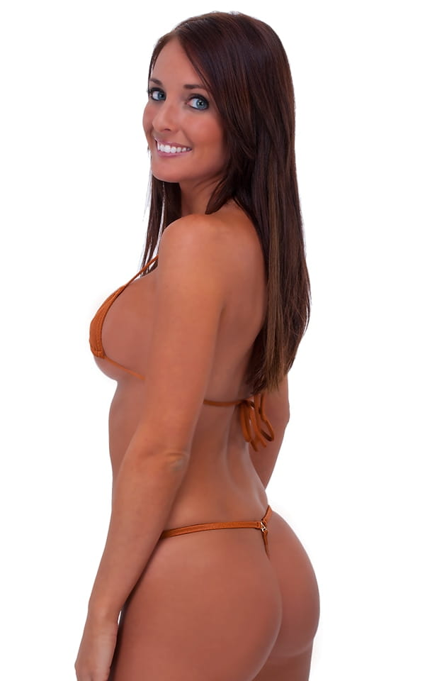 89ceba9c73 Teardrop G String Micro Bikini in Coppertone