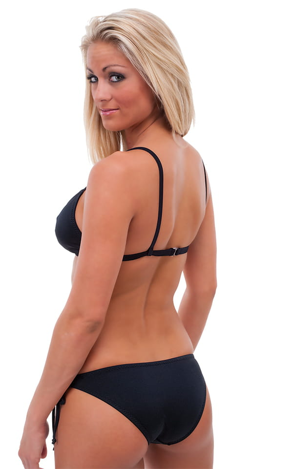 Fitted Tie Front Triangle Swimsuit Top 5