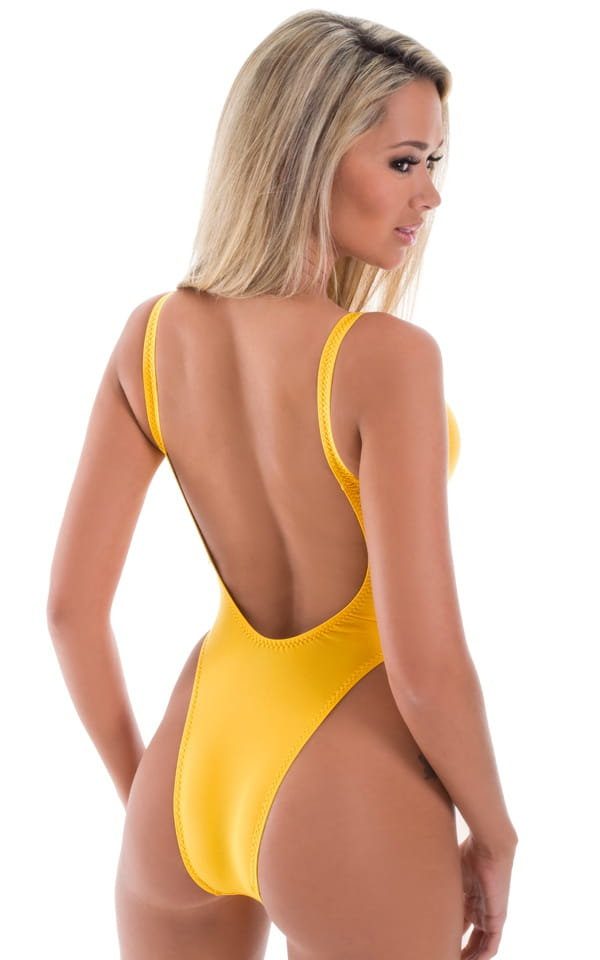One Piece Keyhole Rio Bikini in ThinSKINZ Sunset Yellow 3