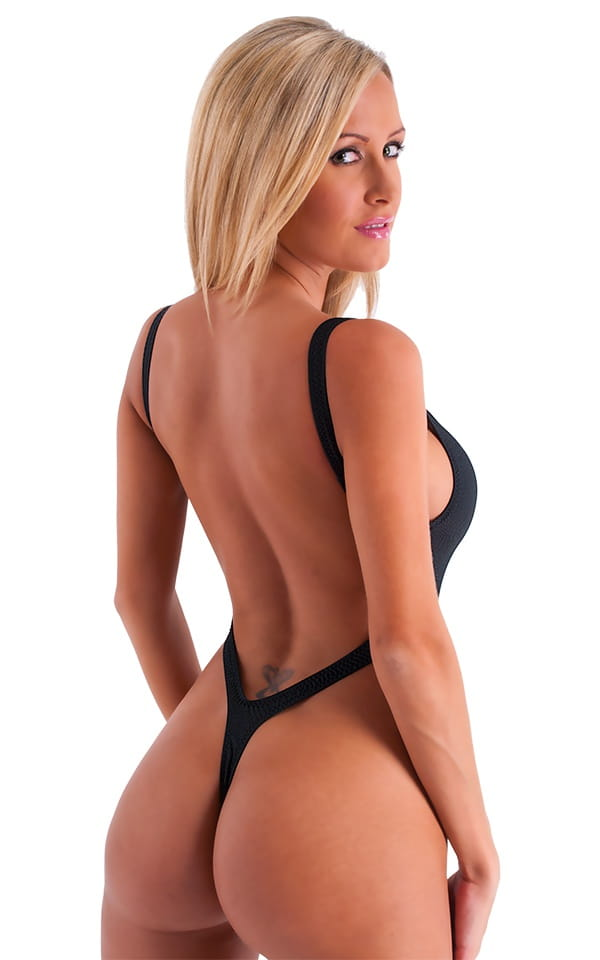 Womens Swimwear One Piece Thong High Cut Tanga