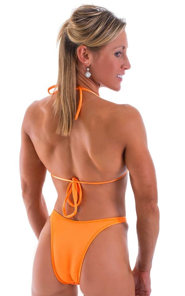 Womens Posing Suit Narrow Back in Neon Orange 3