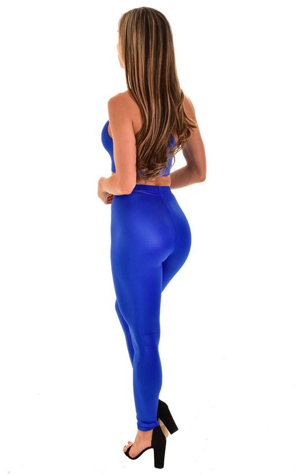 High Waisted Leggings in Royal Blue 3