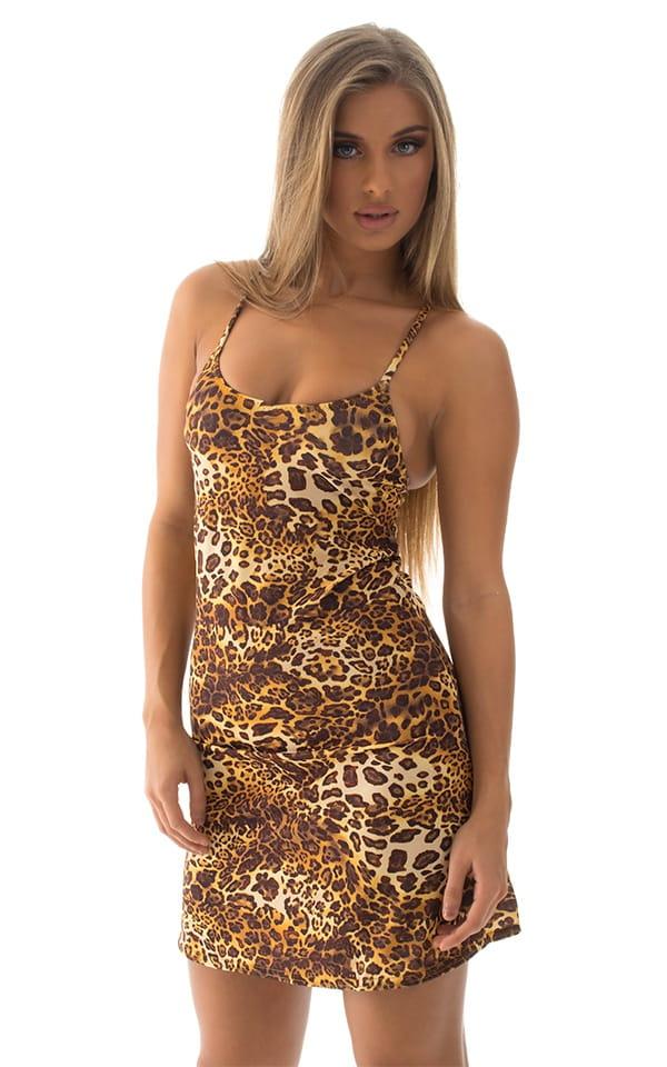 Cover Up Mini Dress in Jungle Kat 1