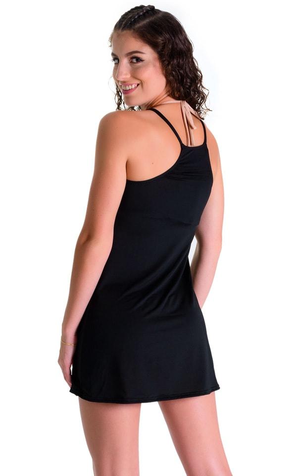 Cover Up Mini Dress in Super ThinSKINZ Black 2