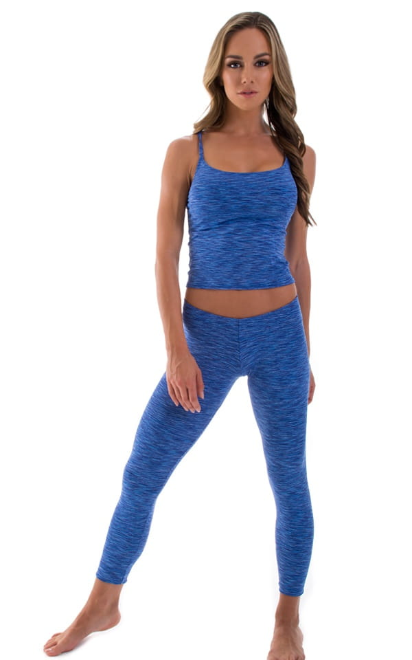 blue yoga pilates leggings