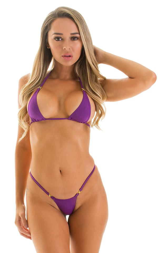 Maximum Tanning Triangle Top in ThinSKINZ Grape 1