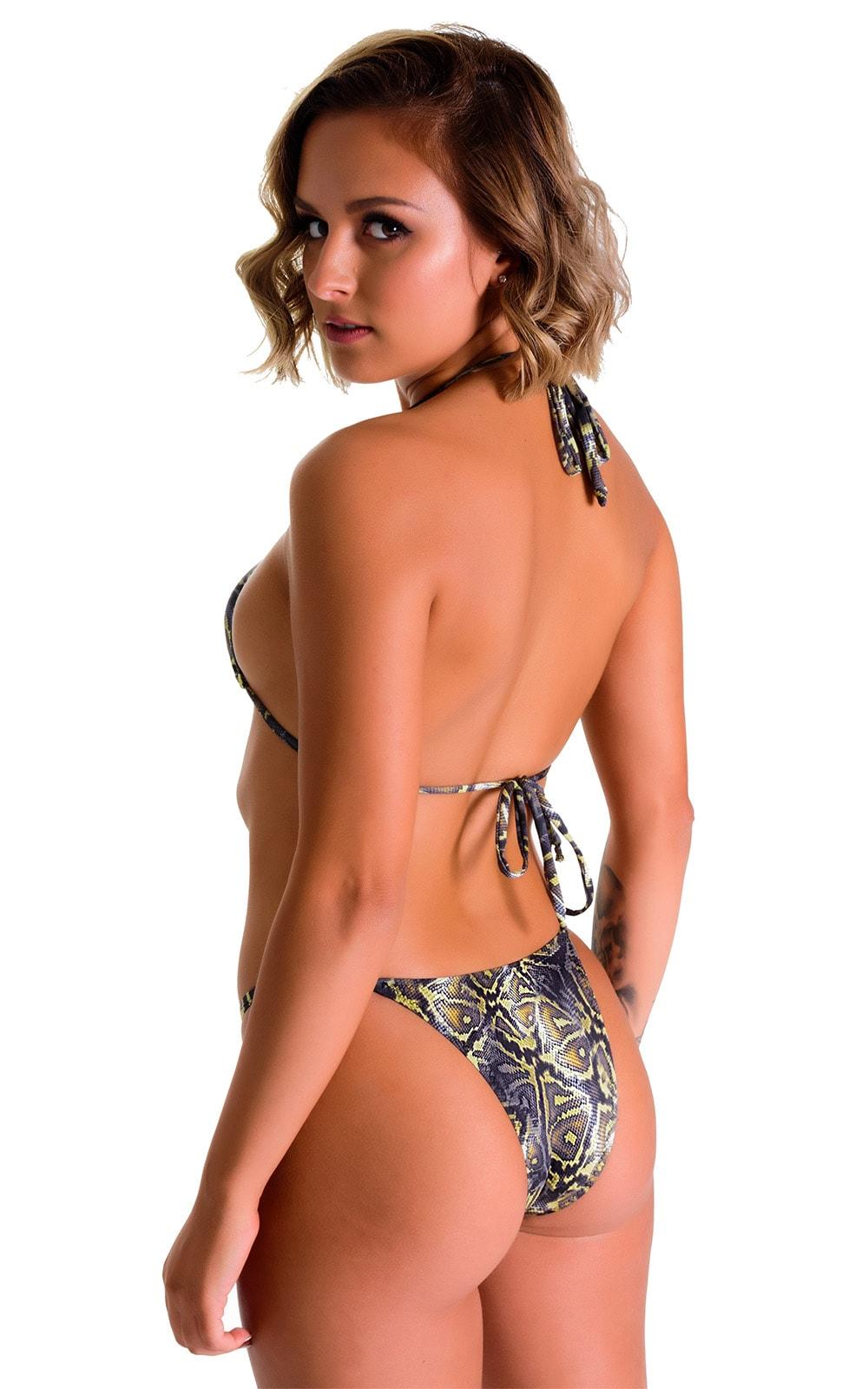 Skinny Side Rio Bikini Bottom in Super ThinSkinz Coiled Python 2