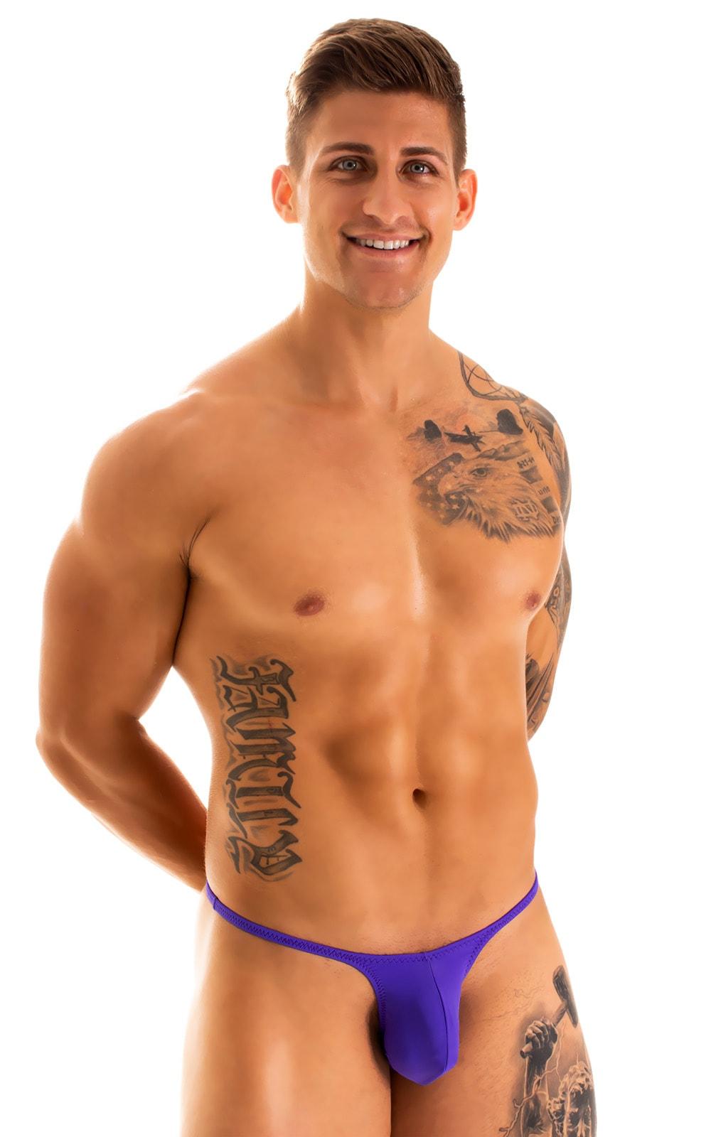 Sunseeker Micro Pouch Half Back Bikini in Indaco 2