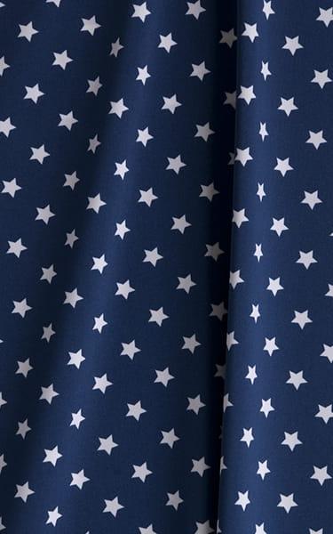 Bikini-Brief Swimsuit in Mini Stars Fabric