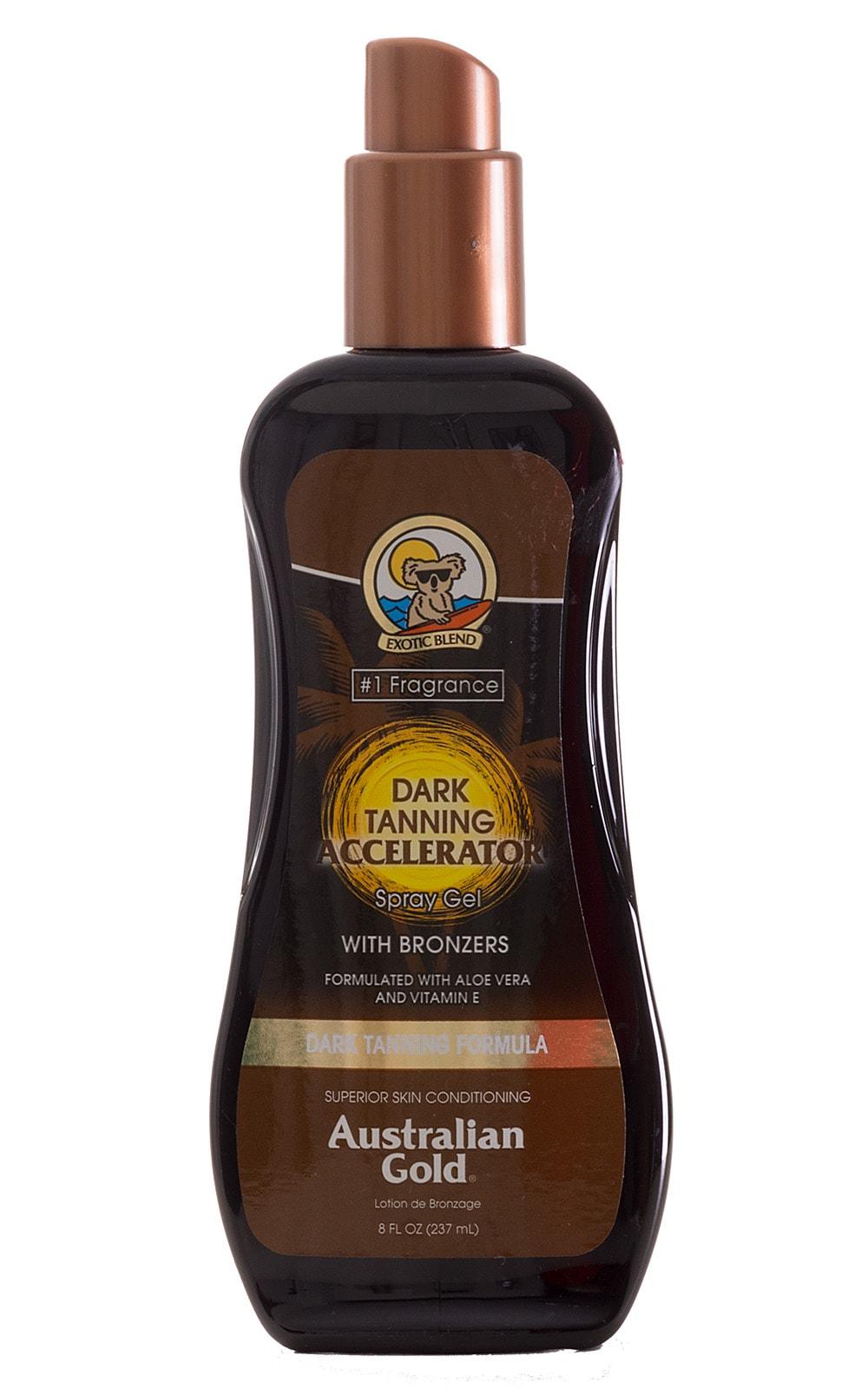 Australian Gold Dark Tanning Accelerator with Instant Bronzer Spray Gel 1