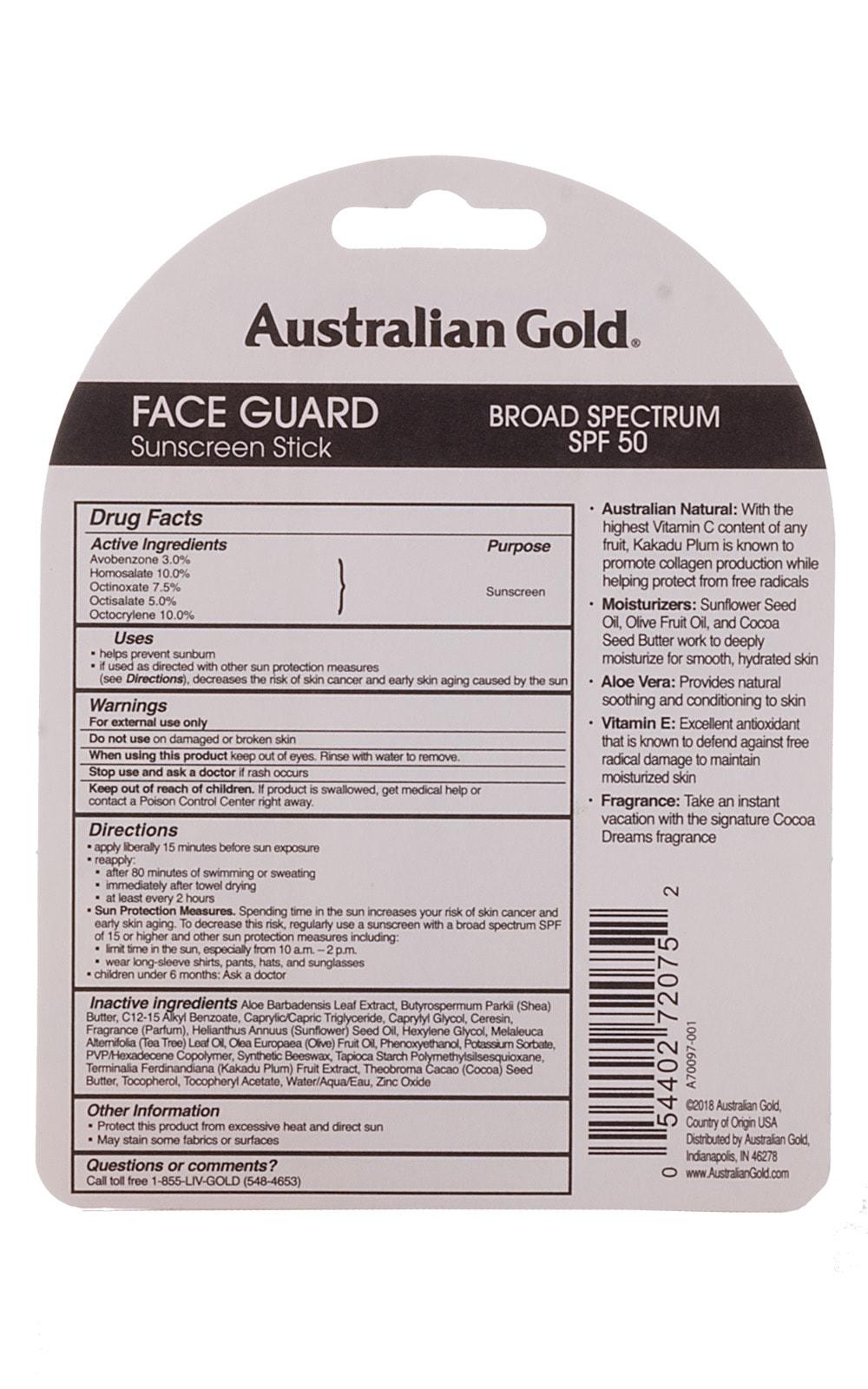 Australian Gold Sunblock Face Guard 2