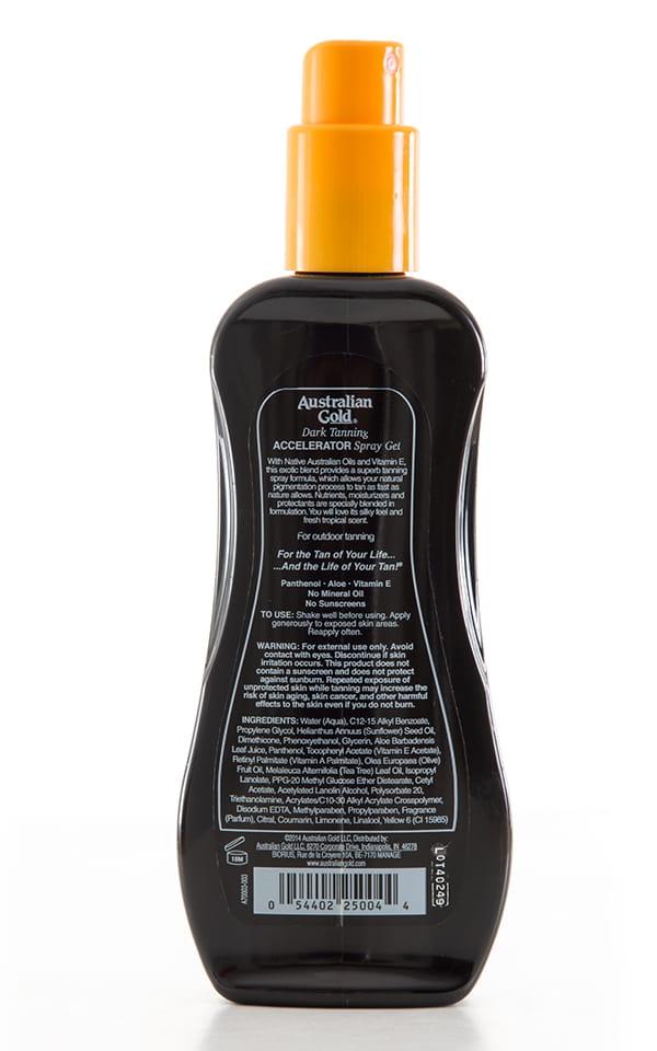 Australian Gold Dark Tanning Accelerator Spray Gel 3