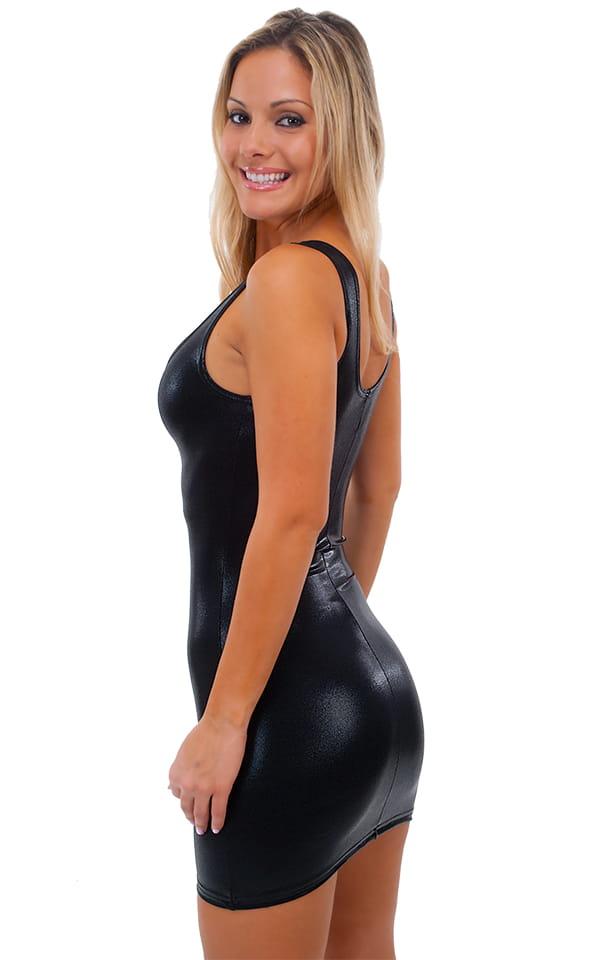 Sexy Mini Dress in Mystique Black on Black 3