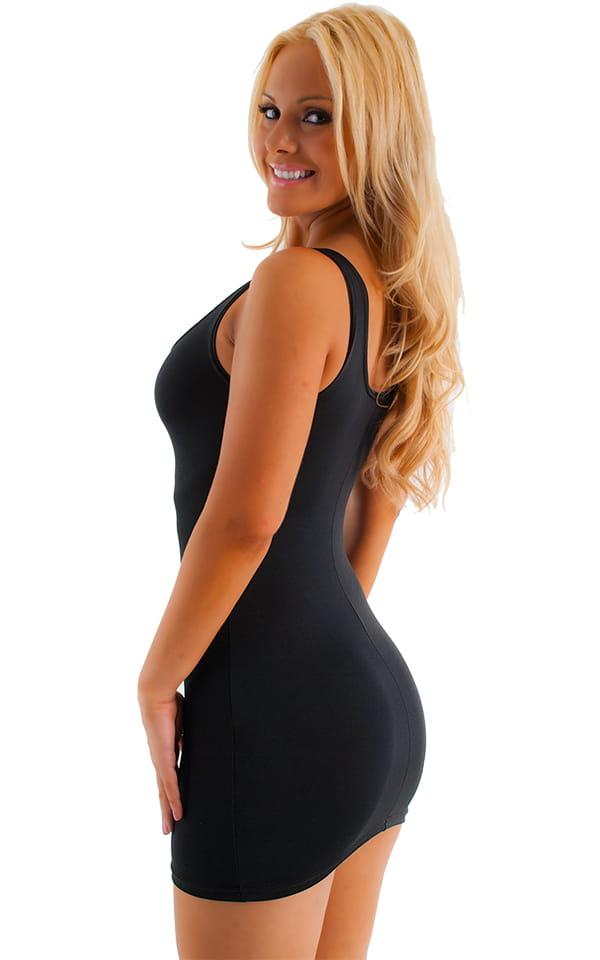 Sexy Mini Dress in Semi Sheer ThinSKINZ Black poly/spandex 3