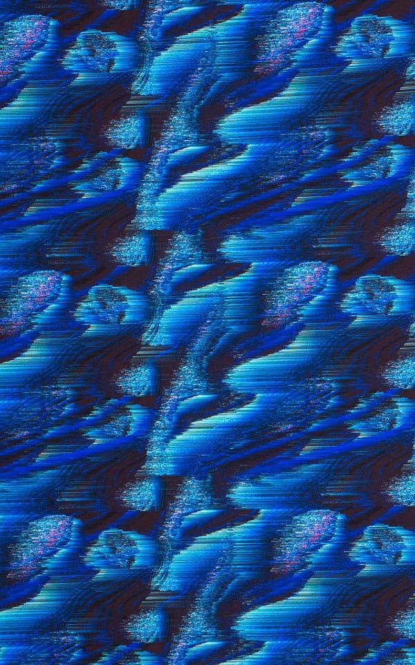 Fitted Bikini Bathing Suit in Digital Rush Blue Fabric