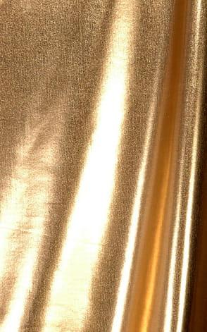 Brazilian Triangle Swim Top  in Liquid Gold Fabric