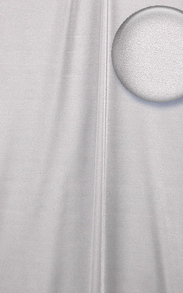 Womens Classic Triangle Swimsuit Top in Holographic Shattered Glass White Silver Fabric