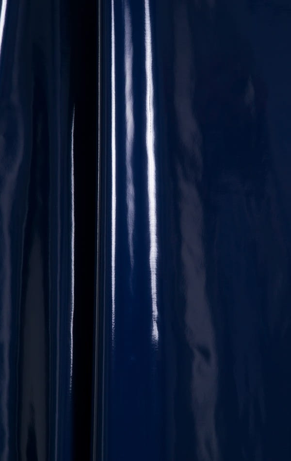 Full Bodysuit Zentai Lycra Spandex Suit for men in Gloss Navy Blue Superstretch Vinyl Fabric