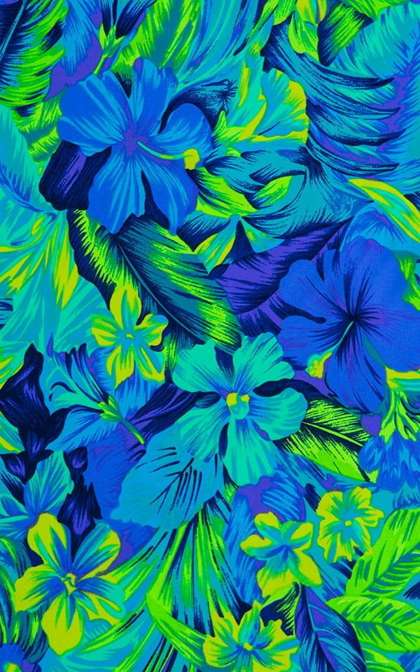 Micro Mini Dress in Tahitian Rainforest Fabric