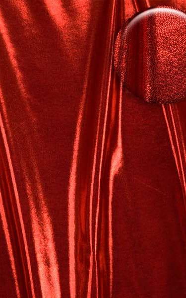 Womens Shaped Triangle Swimtop in Metallic Mystique Volcano Red Fabric