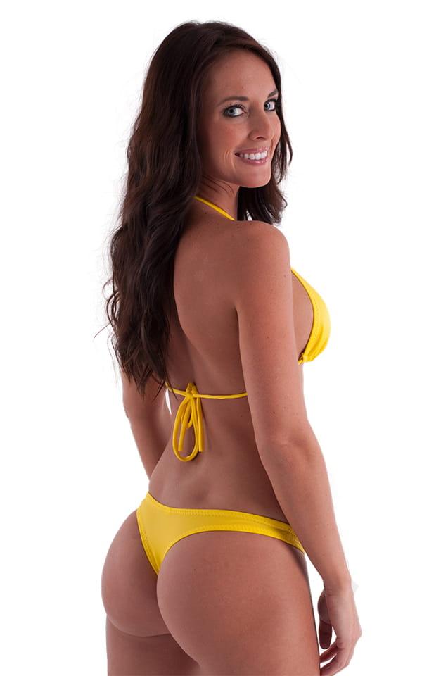 Brazilian Triangle Swim Top in Citron 3
