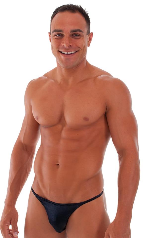 Super Low Brazilian Bikini in Wet Look Black 5