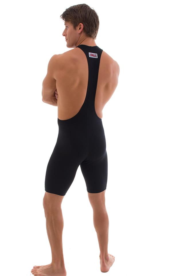 Singlet Bodysuit in Black Cotton Lycra 3