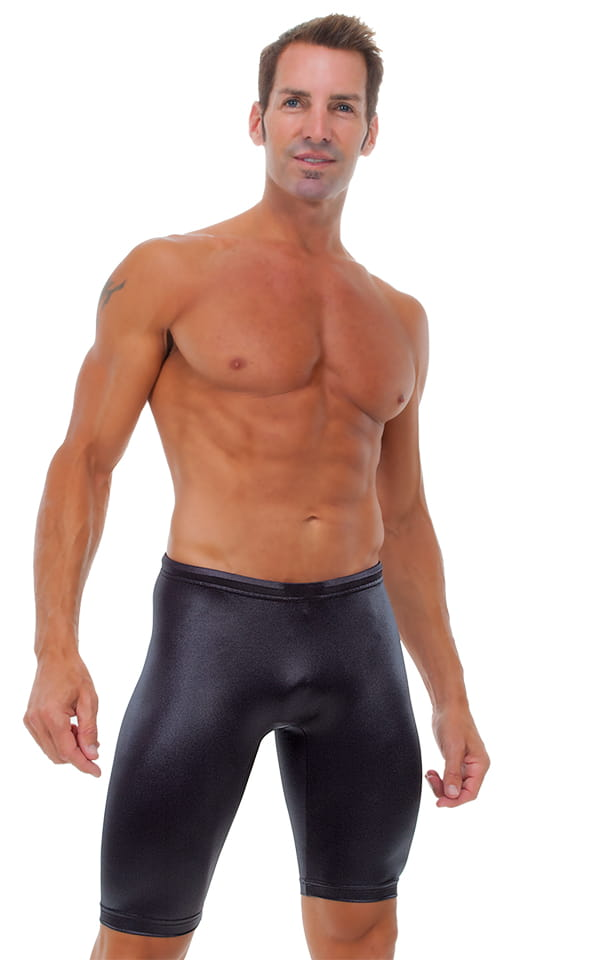 Competition Swim-Dive Jammers in Wet Look Black 1
