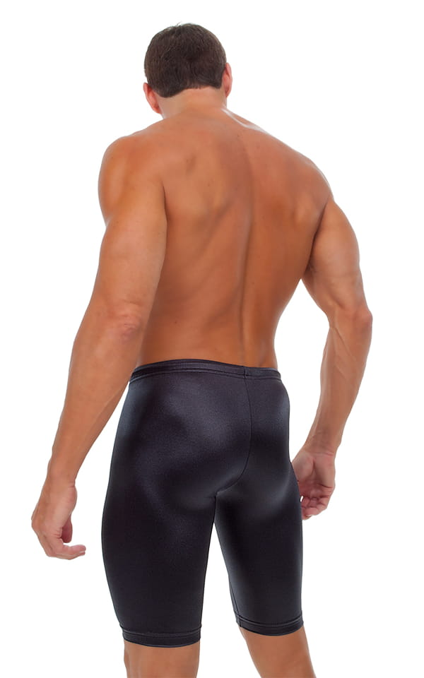 Competition Swim-Dive Jammers in Wet Look Black 4